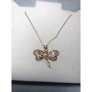 Jewelry - 14k Necklace with Dragonfly Charm✨